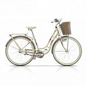 "Велосипед 28"" CROSS Picnic Flowers 3 spd рама 18"" 2015 белый"